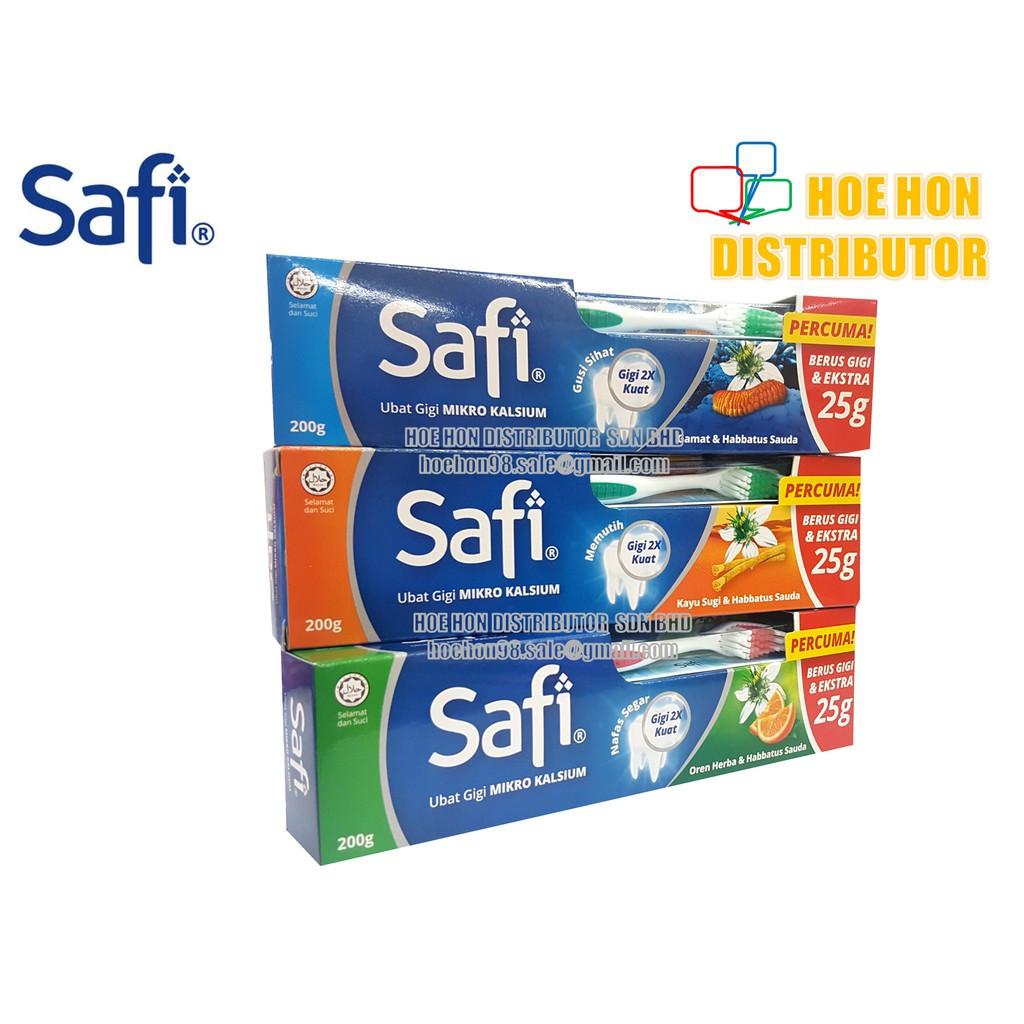 image of Safi Toothpaste 175g Kayu Sugi, Gamat, Oren Herba / Safi Ubat Gigi 175g