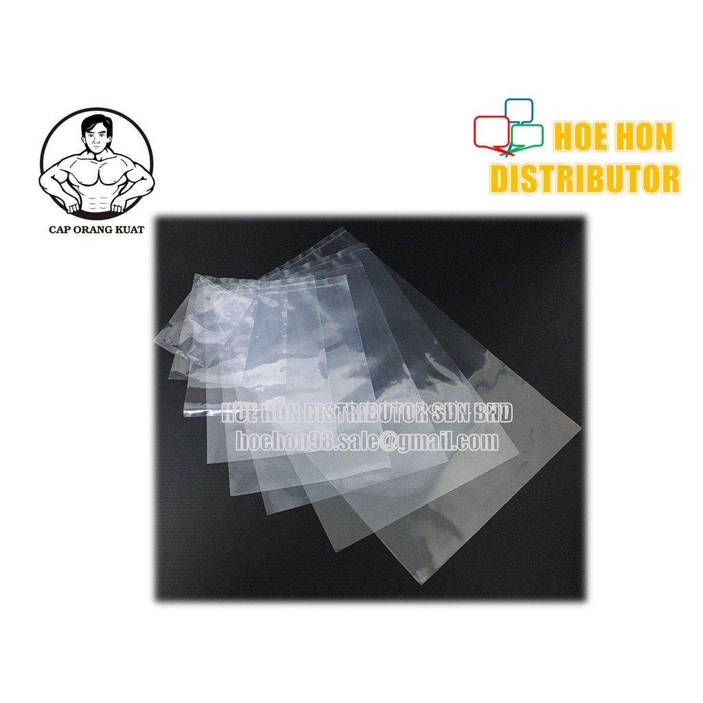 image of Cap Orang Kuat Clear / Transparent PP / PE 04 Plastic Bag 250g