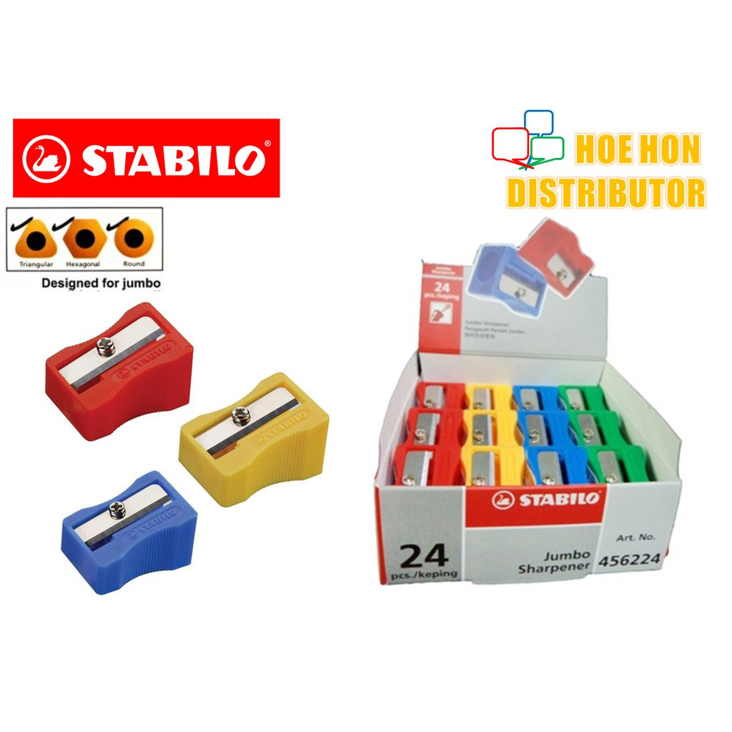 image of Stabilo Jumbo Sharpener (For Stabilo Jumbo Color Pencil) Pengasah Pensil