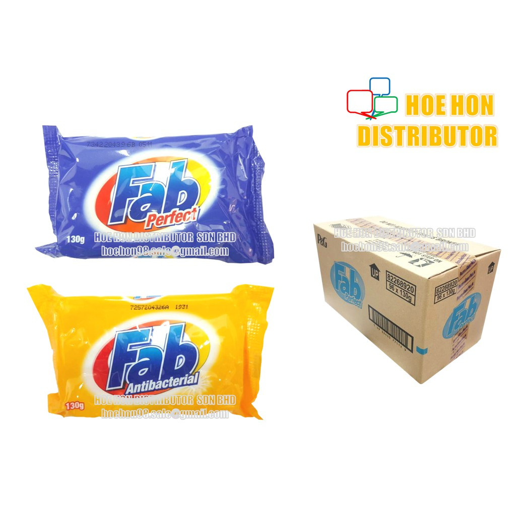 image of Fab Bar Laundry Soap Perfect / Antibacterial 130g / Fab Buku