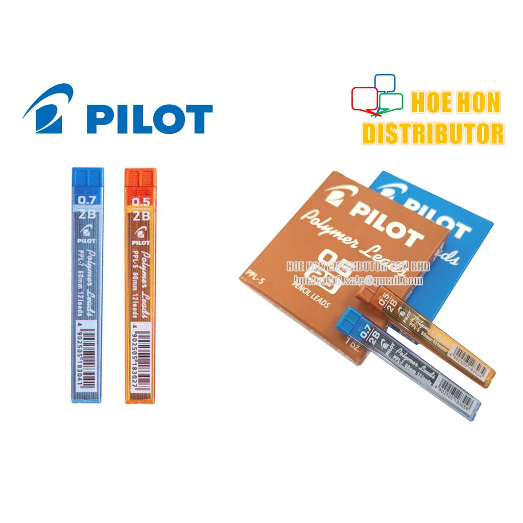 image of Pilot 2B Polymer Mechanical Pencil Leads 0.5mm / 0.7mm