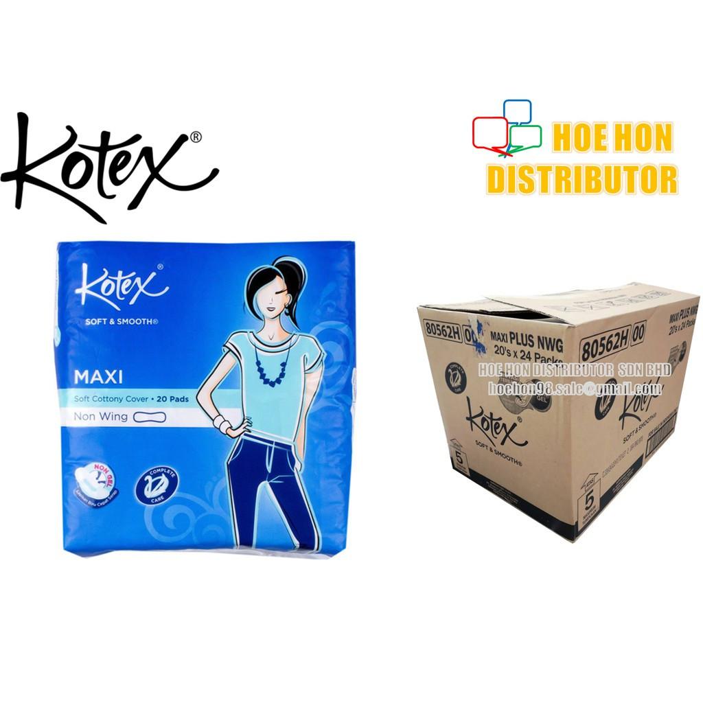 Kotex Maxi Non Wing 23cm 20 Pads