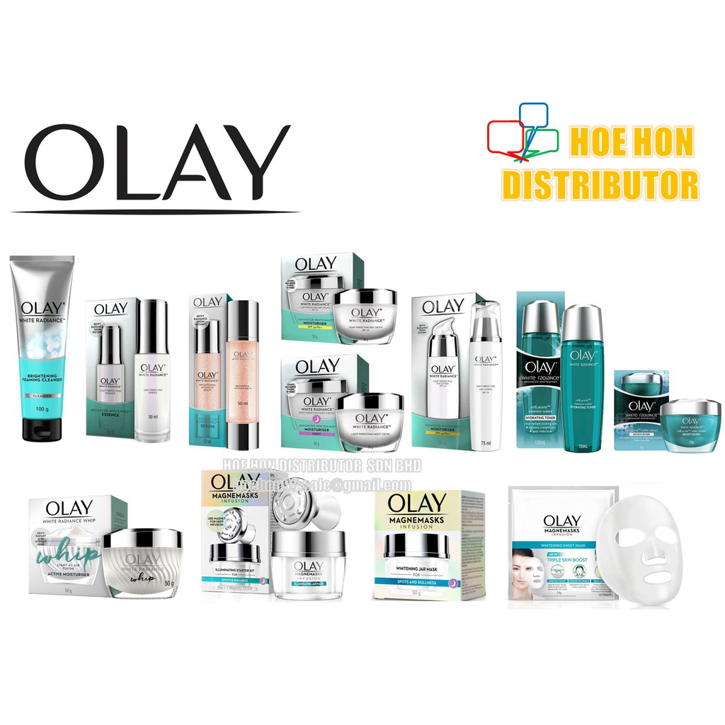 image of [FULL] Olay White Radiance Light Perfecting / Cellucent / Magnemasks