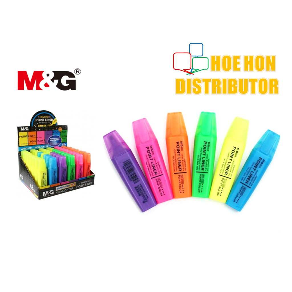 image of M&G Point Liner Fluorescent Highlighter / # Stabilo Boss