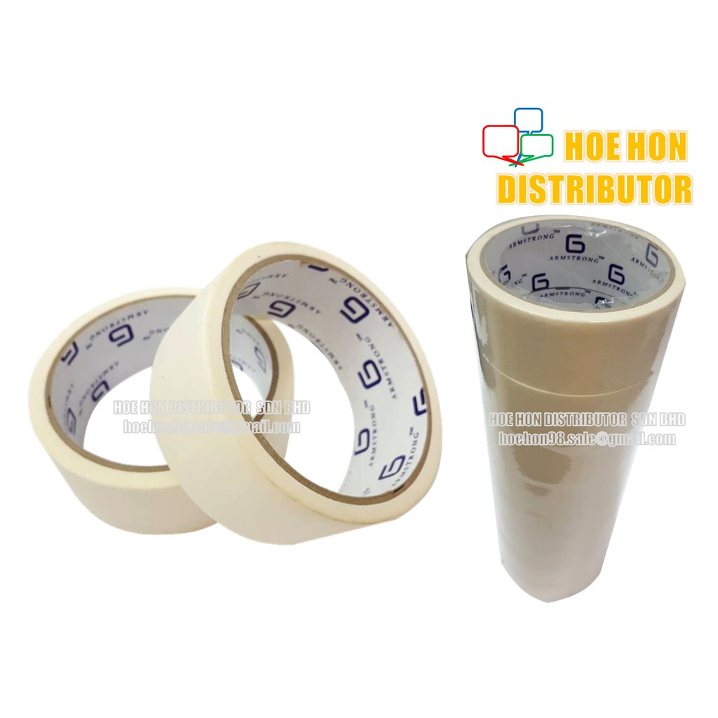 image of Masking Tape 24mm X 12m + / 1 Inch X 14 Yard