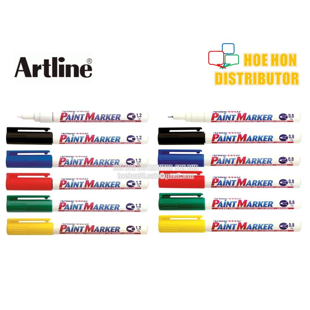 image of Artline Permanent Paint Marker Pen / Pen Penanda Cat 1.2mm 440XF / 0.8mm 444XF