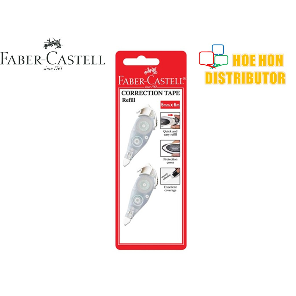 image of Faber-Castell Correction / Refill Tape 5mm X 6m (Faber Castell Correction Tape)