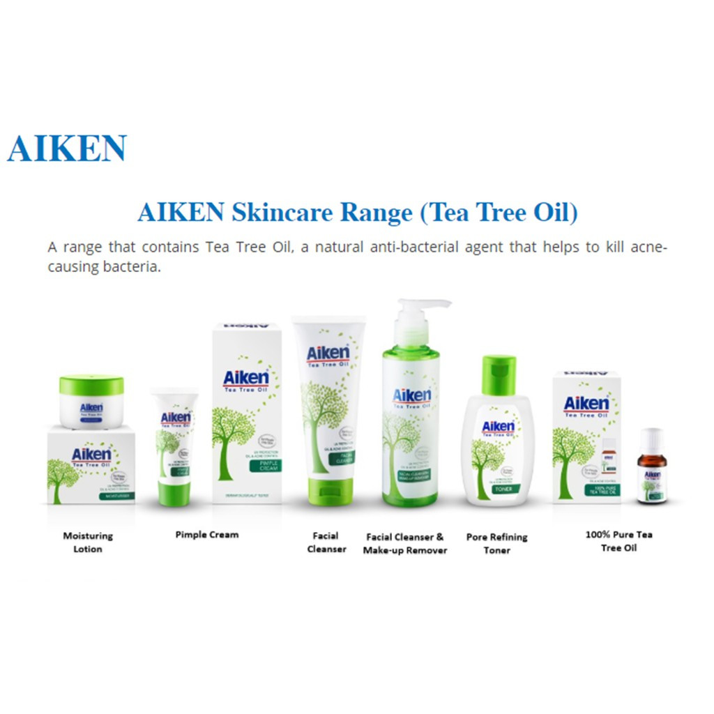 Aiken Tea Tree Oil Facial Cleanser + Make Up / Make-Up Remover 150ml