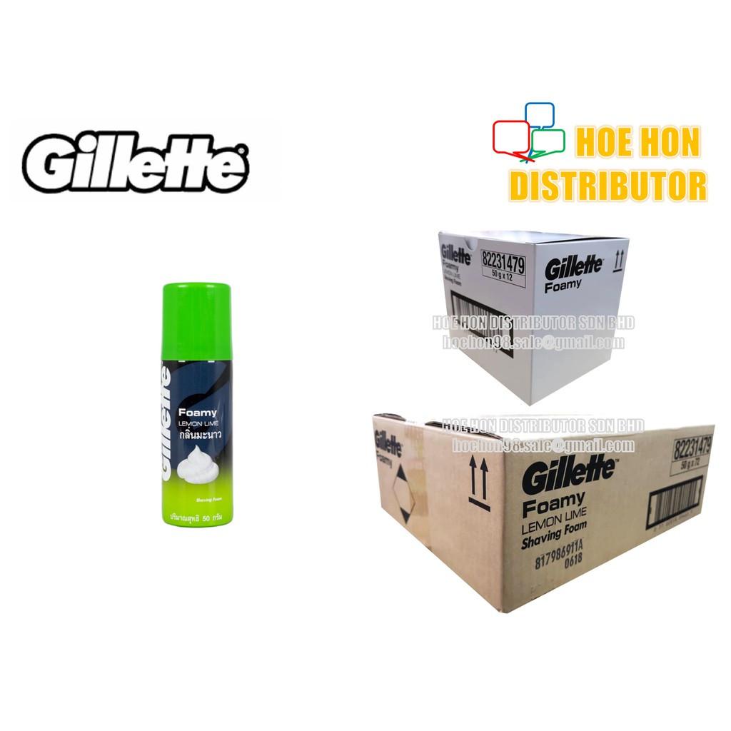 Gillette Shaving Foam / Shave Foamy Lemon Lime 50g (Travel Pack)