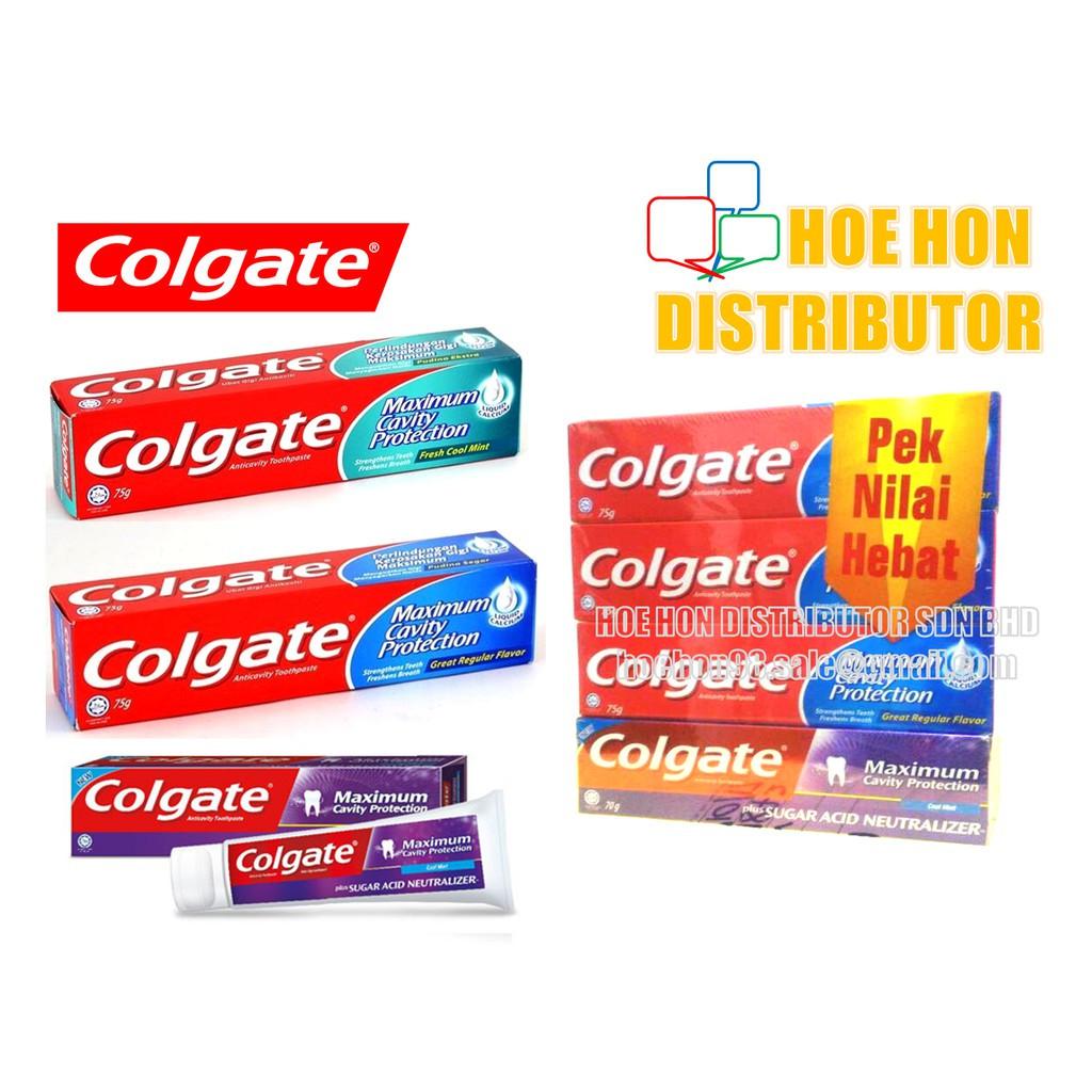 image of Colgate 75g Fresh Cool Mint / Great Regular Flavour / Sugar Acid Neutralizer