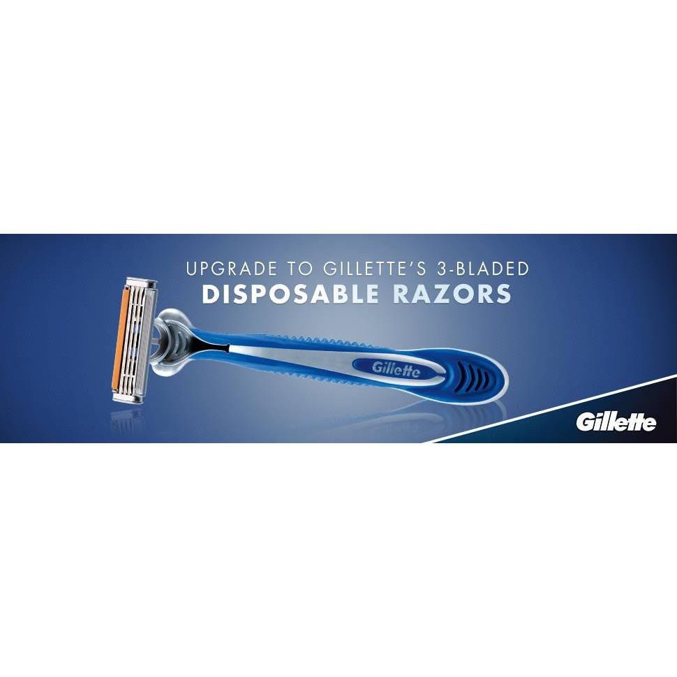 Gillette Blue 3 Disposable Razor 4 Unit Value Pack (ORIGINAL) Pisau Cukur