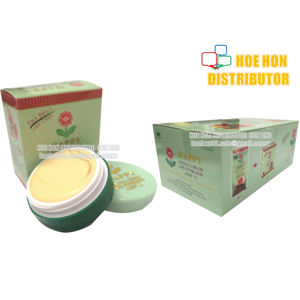 image of Happy Facial Cream And Sunblock SPF 15 3.5g