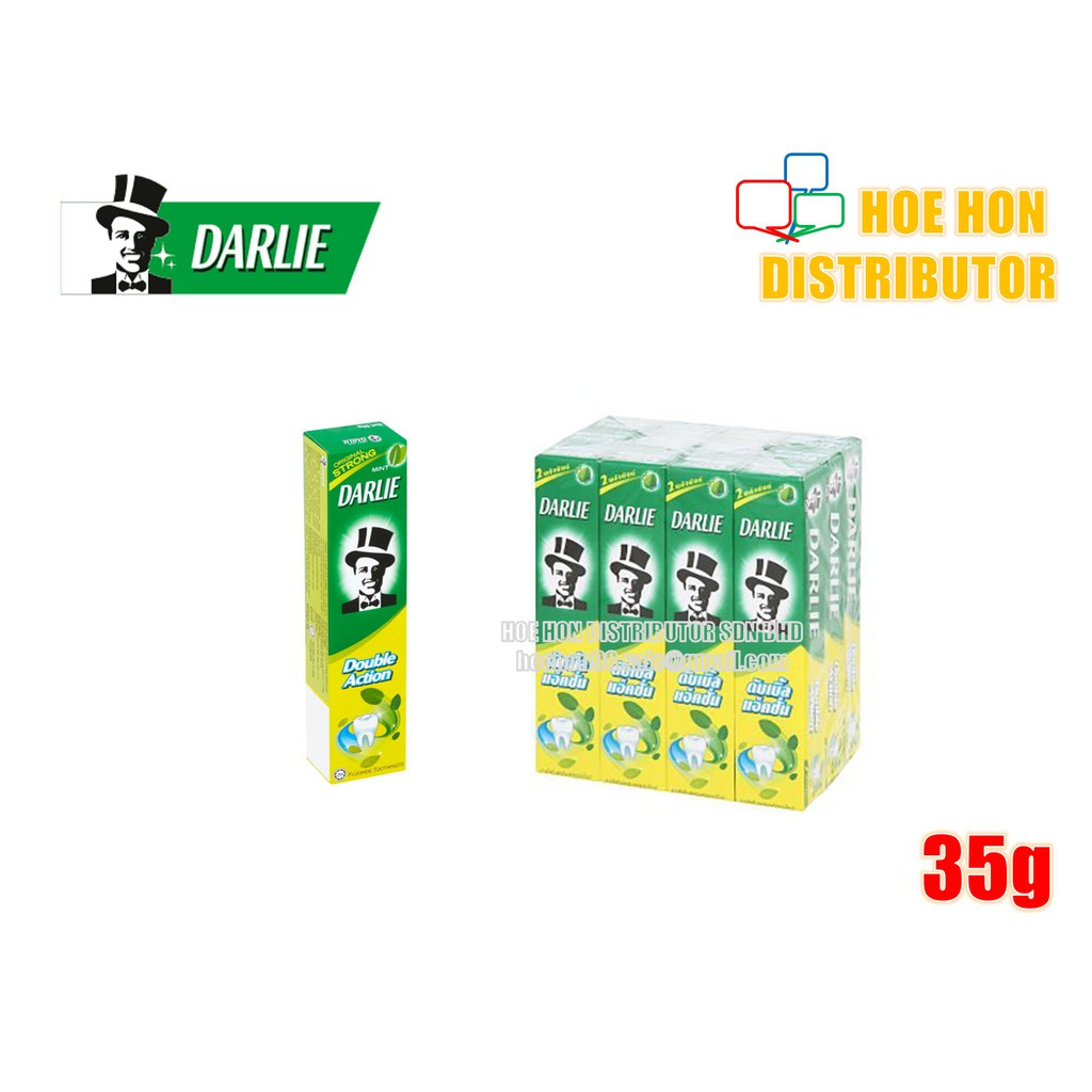 image of Darlie Ubat Gigi Double Action Toothpaste Original Strong Mint 35g