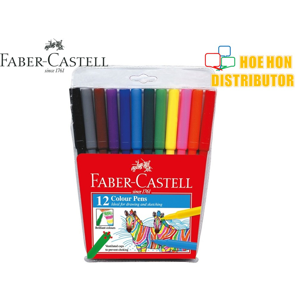 Faber-Castell Fibre Tip Magic / Colour Pen 12 Colours (Faber Castell Colour Pen)