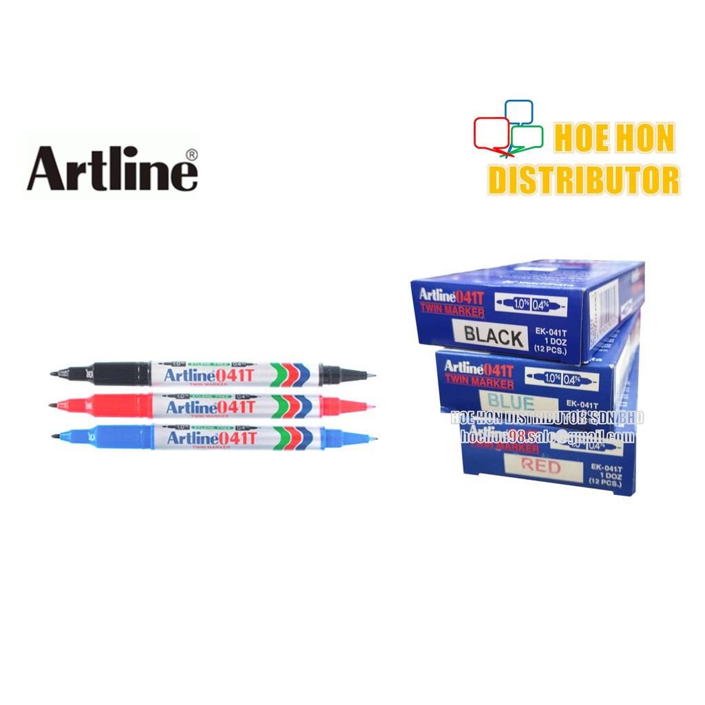 Artline Twin / Dual Tip Permanent And Waterproof Marker EK - 041T