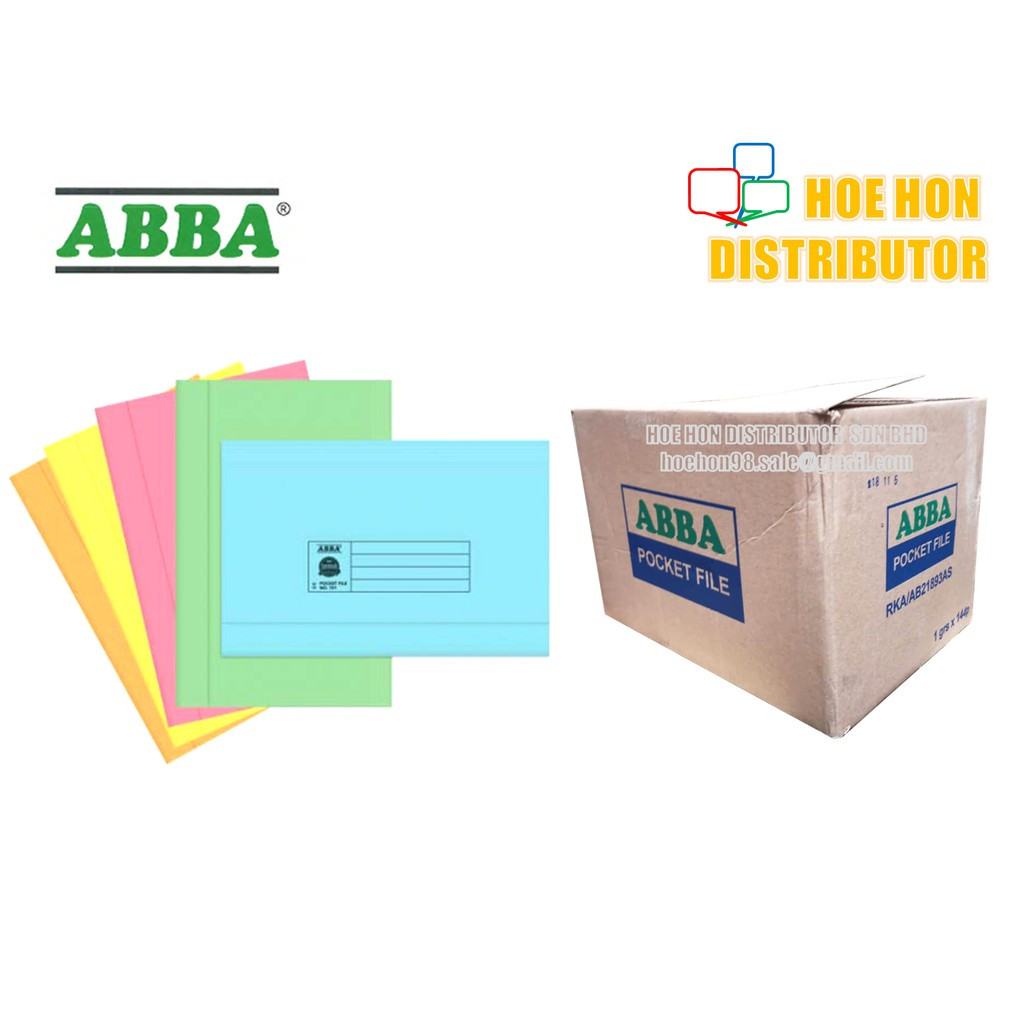 ABBA Manila Card Pocket File No. 222 Light Colour 6pcs