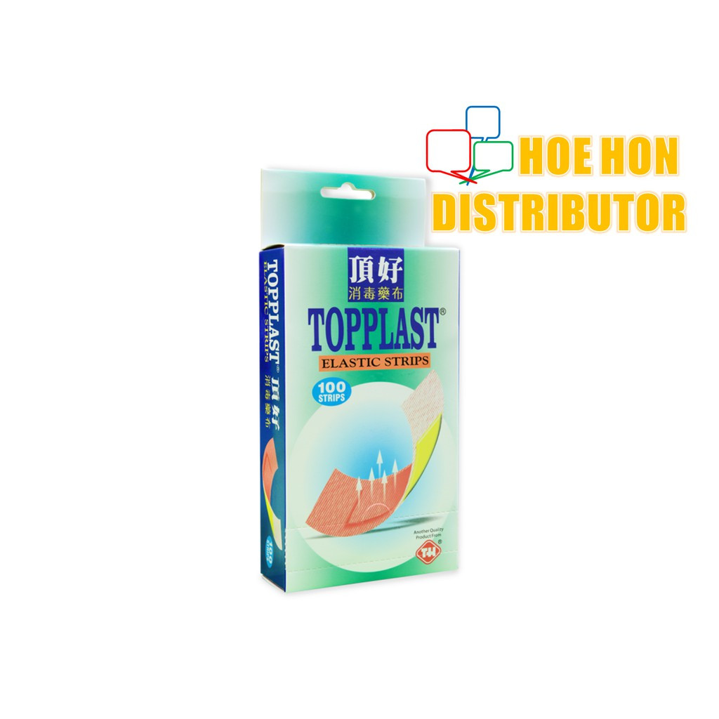 image of Topplast Elastic Strips 100pcs Plaster Luka Berubat, First Aid Strips