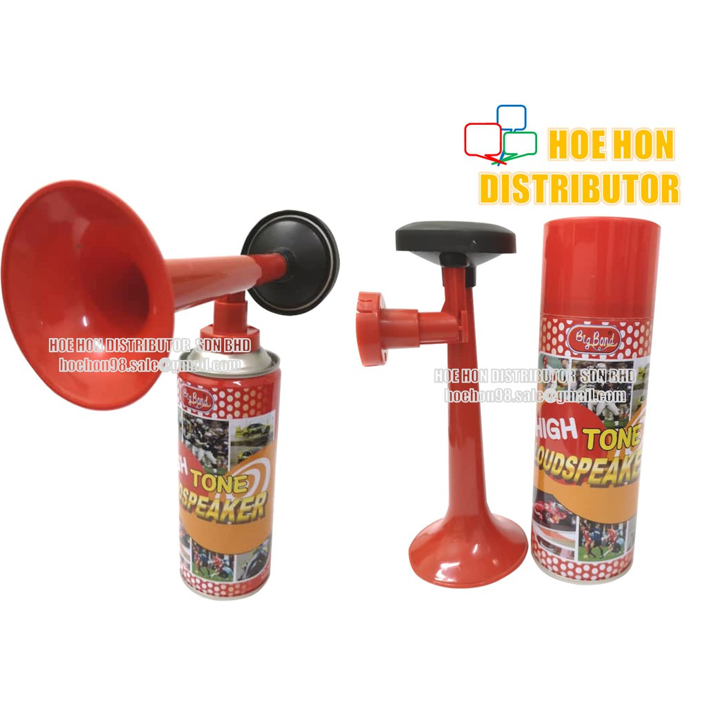 Sport / Concert / Celebration Super Loud Tone Gas Pressurised Air Horn 1 Set
