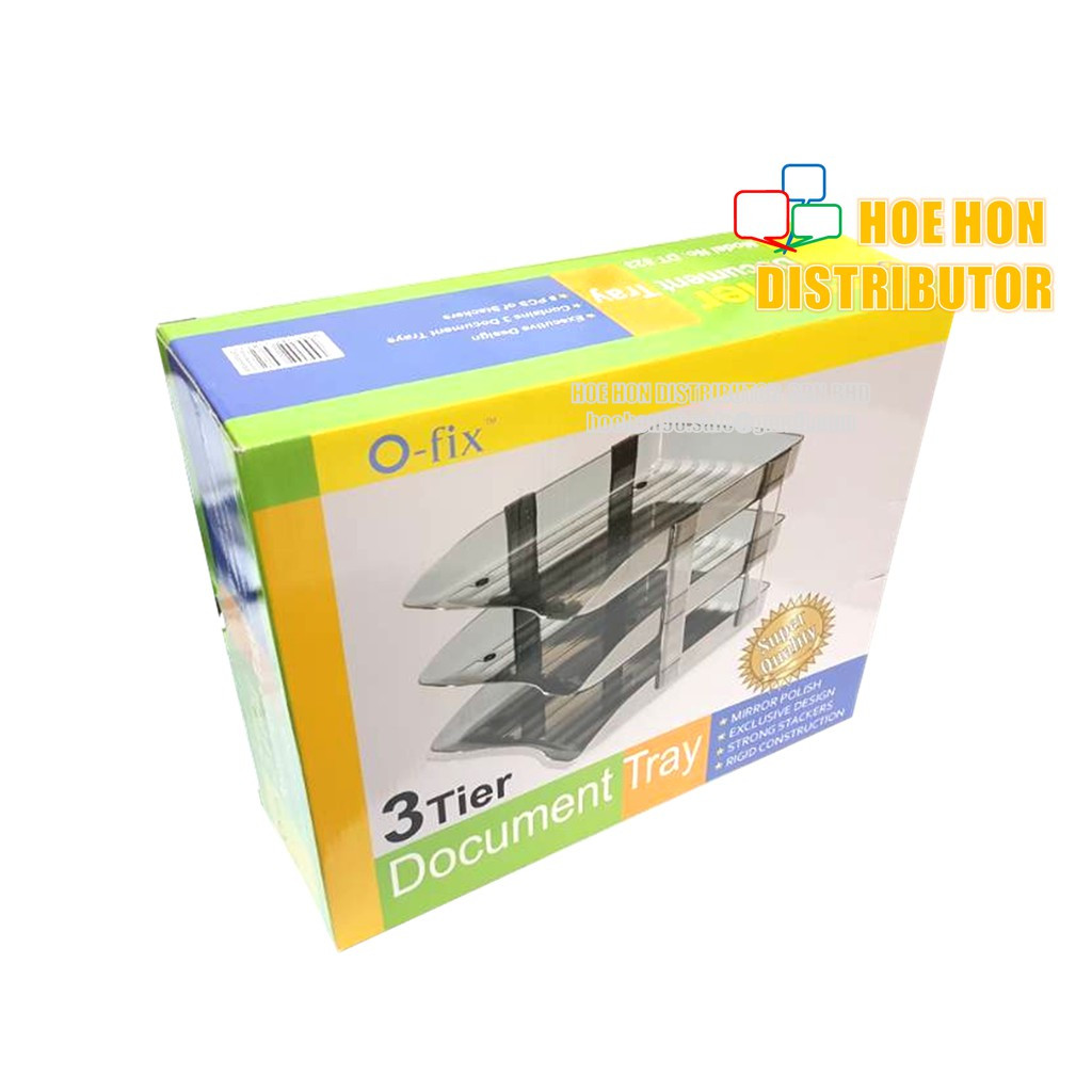 Xtra O-Fix 3 Tier Document Tray DT 823