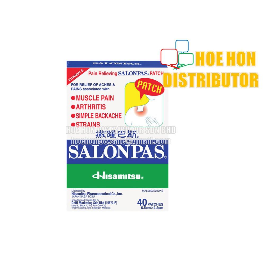 Salonpas Pain Relieving Patch 40 Patches (Pain Relief Patch, Neobun Patch)