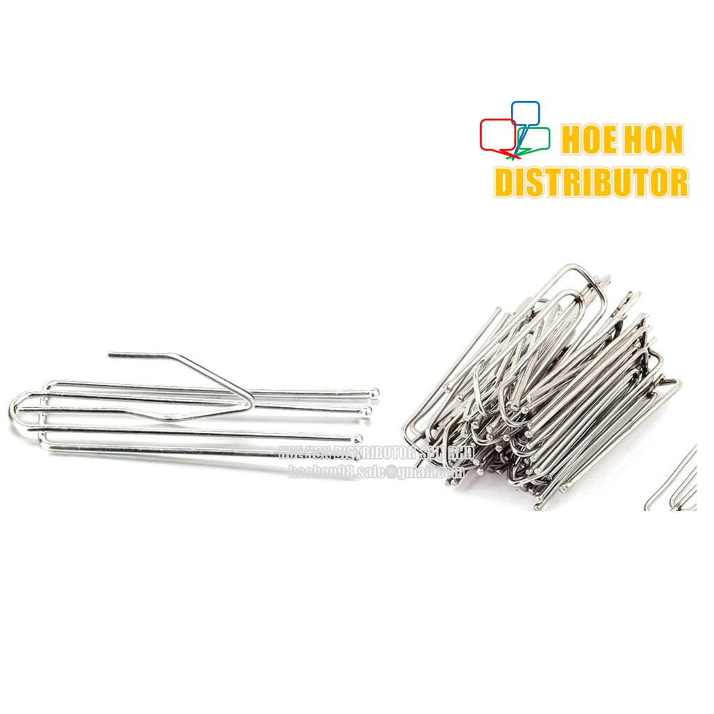 image of Stainless Steel Curtain Fork Hook / Cangkuk Langsir 10pc
