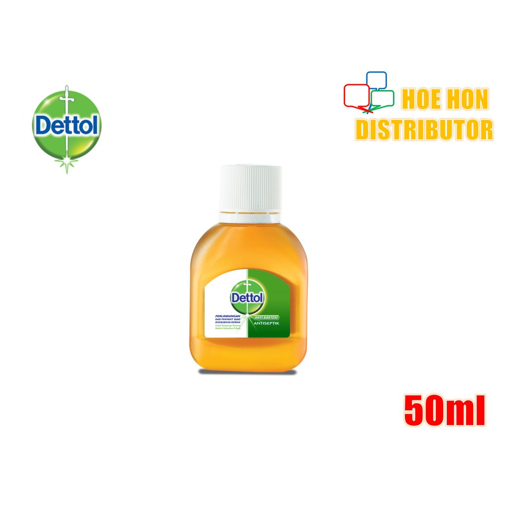 image of Dettol Antiseptic Liquid (First Aid / Travel Pack) Antiseptik Cair 50ml