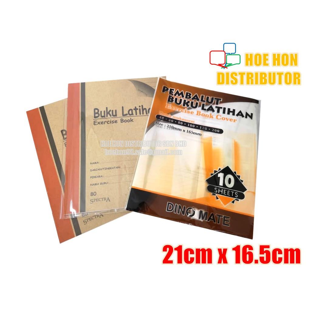 image of Transparent Plastic PVC Book Cover Wrap / Pembalut Buku 21cm X 16.5cm 10 Sheet