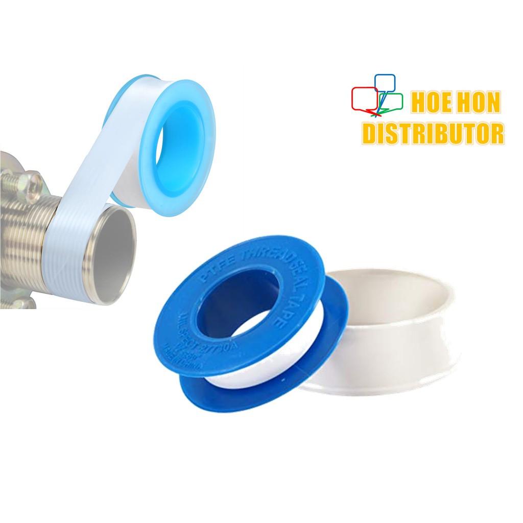 image of Pluming Water Thread Pipe White Sealing Tape / Pita Paip 12mm X 0.75mm