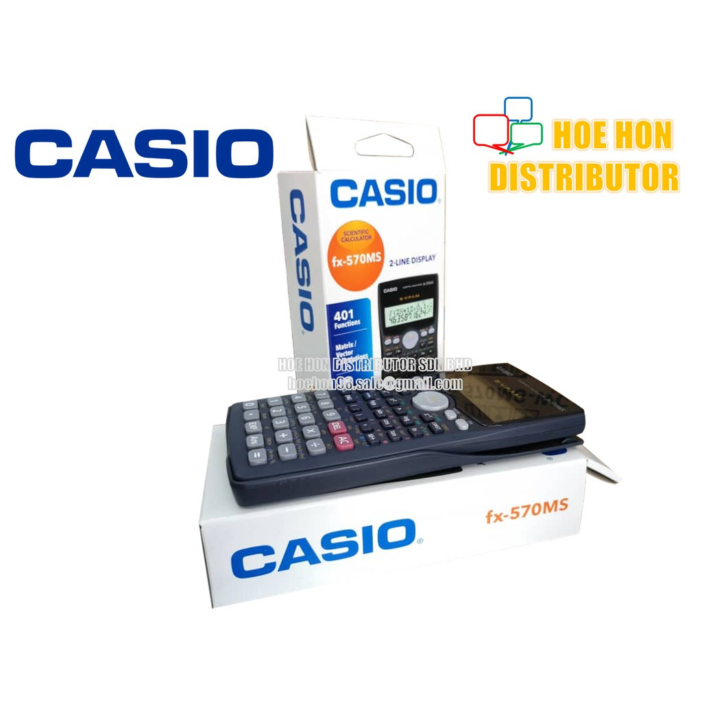 Casio Scientific Calculator Fx-570ms / Kalkulator 570 (ORIGINAL)