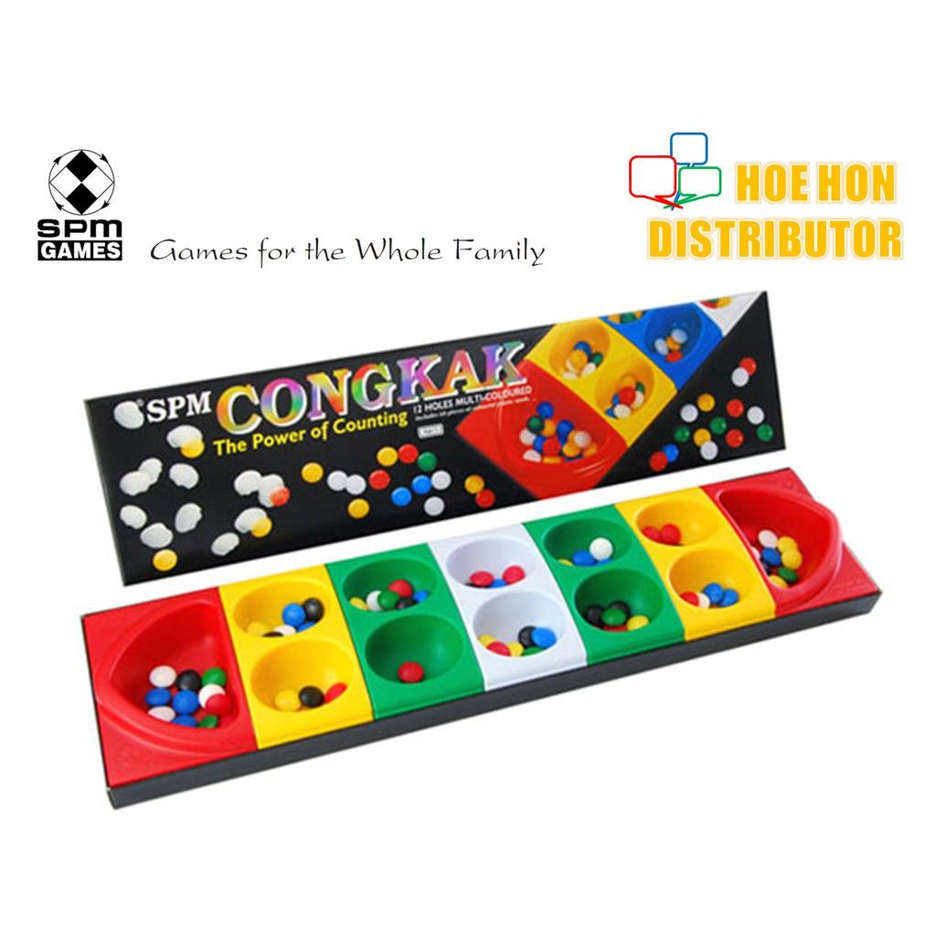 image of Congkak Junior 12 Multi Colored Holes SPM 105