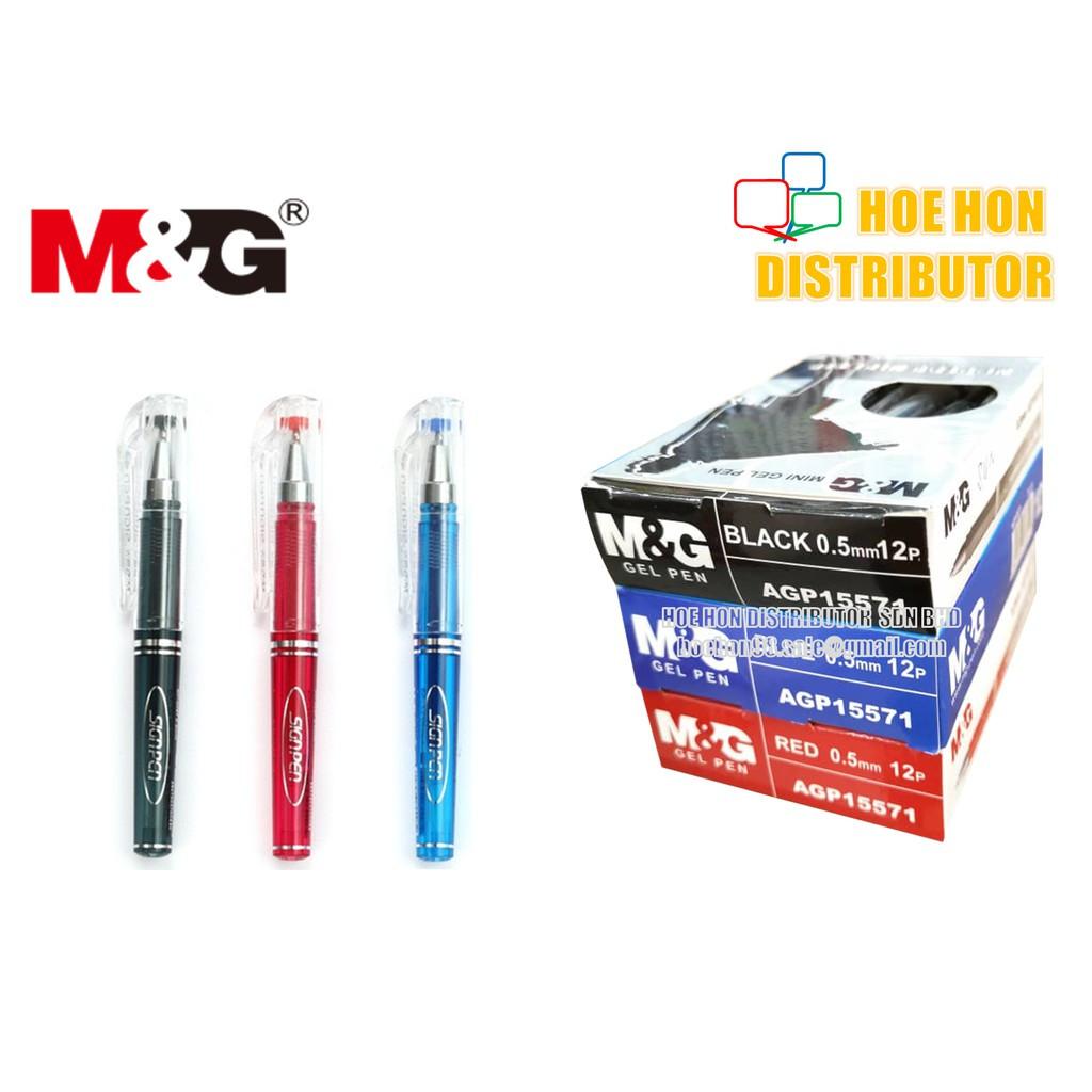 image of M&G Mini Gel Sign Pen 0.5mm AGP 15571 (Short Pen)