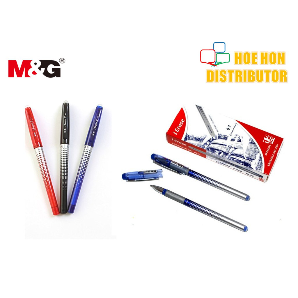 image of M&G IErase Erasable / Pemadam Gel Pen 0.5mm (Pilot Frixion Alternative)