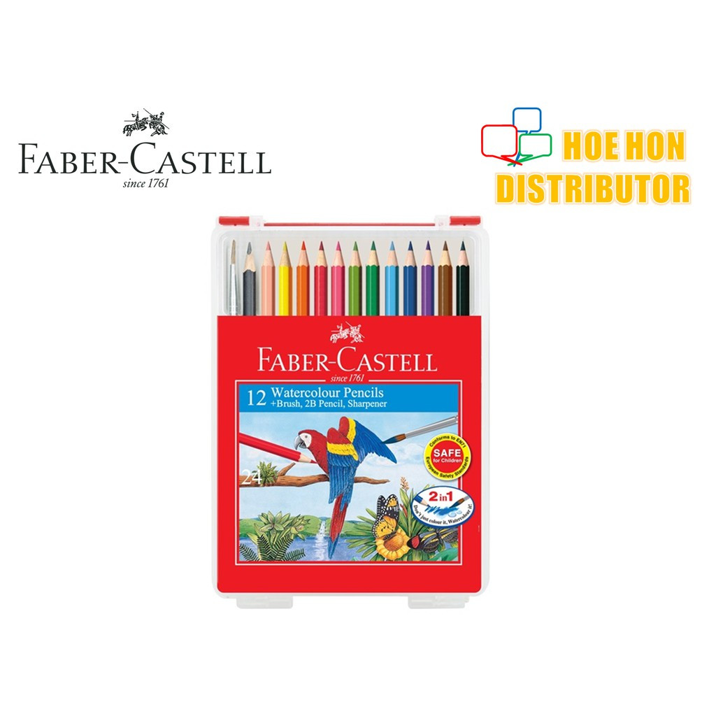 image of Faber Castell / Faber-Castell Wonder Box Water Color Colour Pencil 12 Long