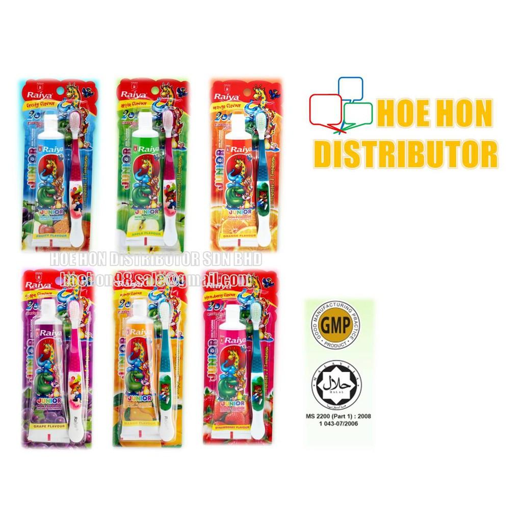 image of Raiya Junior Children Toothpaste 75g + 1 Toothbrush (COLGATE)
