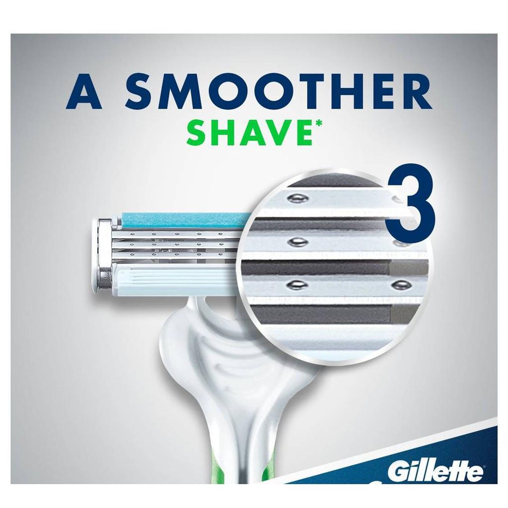 Gillette Blue 3 Sensitive Disposable Razor 4 Unit Value Pack / Pisau Cukur