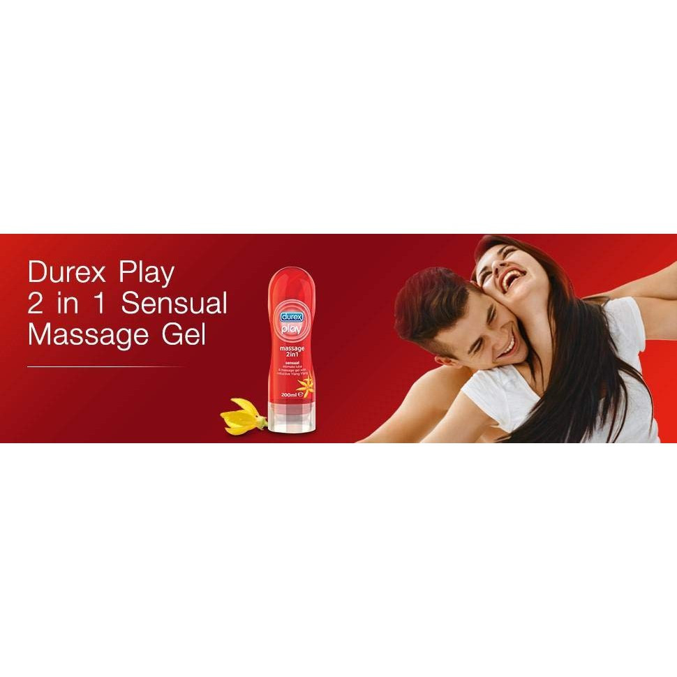 Durex Play Massage 2 In 1 Intimate Lube 200 ML (Durex Lubricant, Massage Gel)