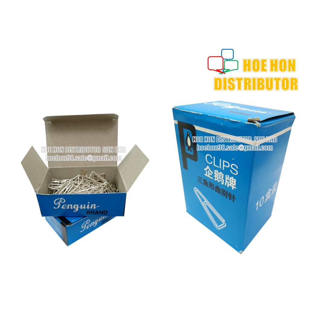 Penguin Triangle Paper Clip / Klip Kertas / 回形针 31mm 031 100pcs / Small Box