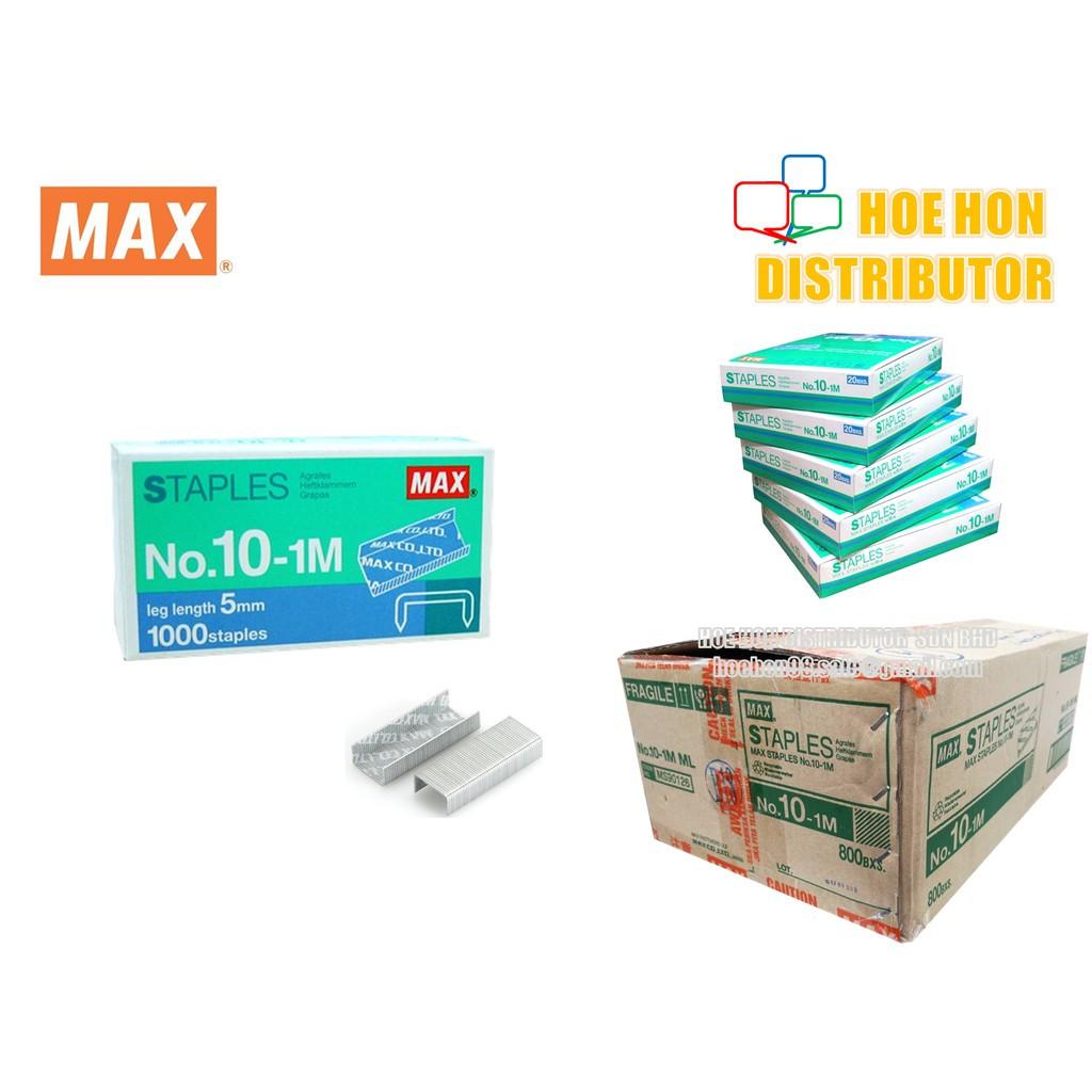 image of MAX Staples No 10 / No. 10-1M / Staple Bullet / Isi Dawai Kokot MAX MS90126