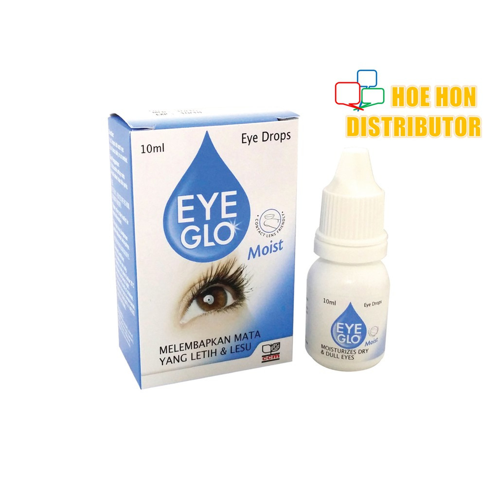[Use With Contact Lens] Eye Glo Moist 10 Ml Ubat Mata / Eye Drops