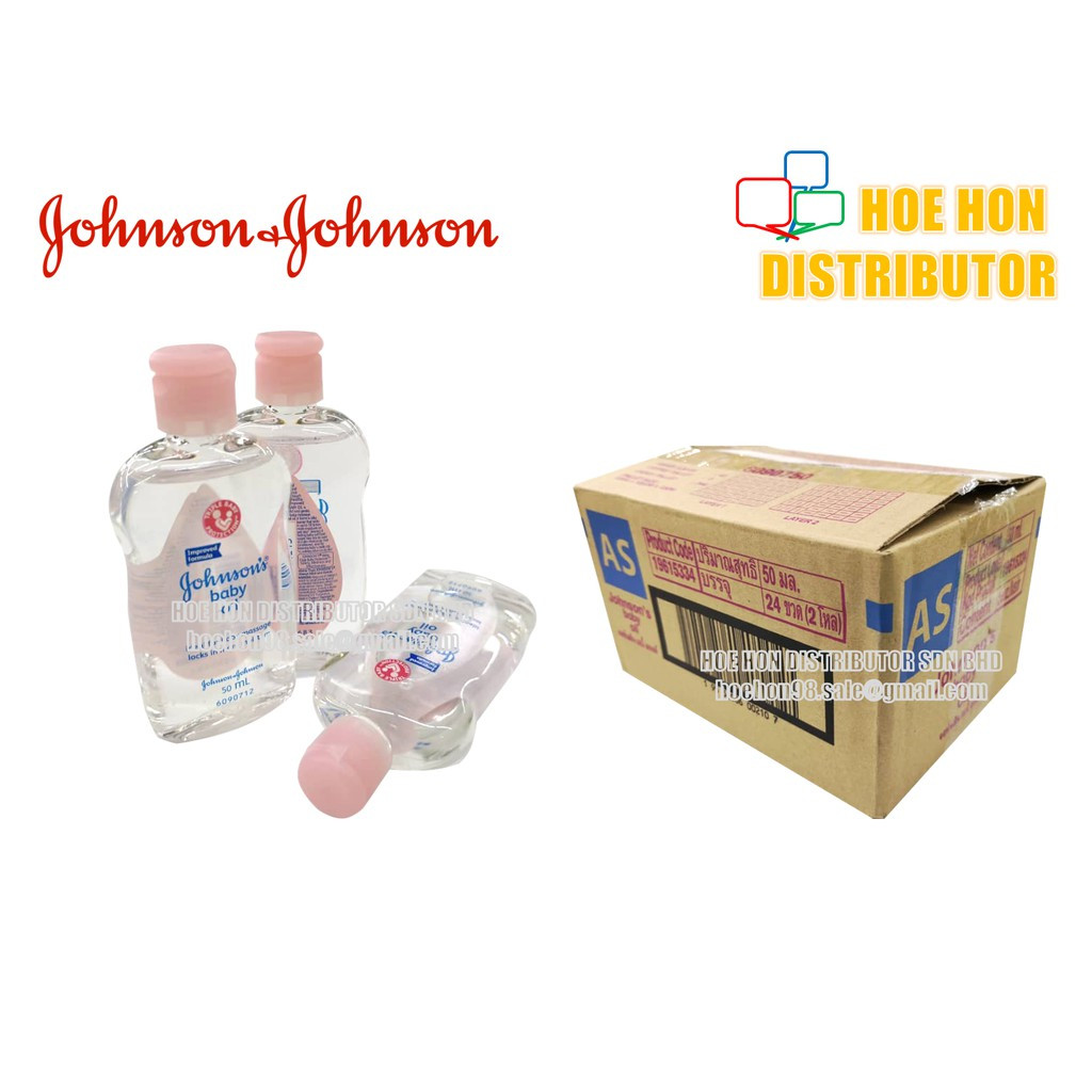 image of Johnson's Baby Regular Oil / Minyak Bayi Johnson 50ml Pink