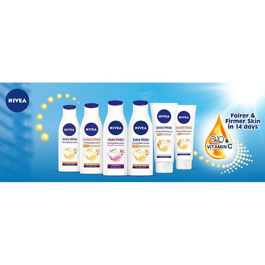 Nivea Firming Body Lotion 200ml 250ml Extra White SPF 30, Nutri / Instant White