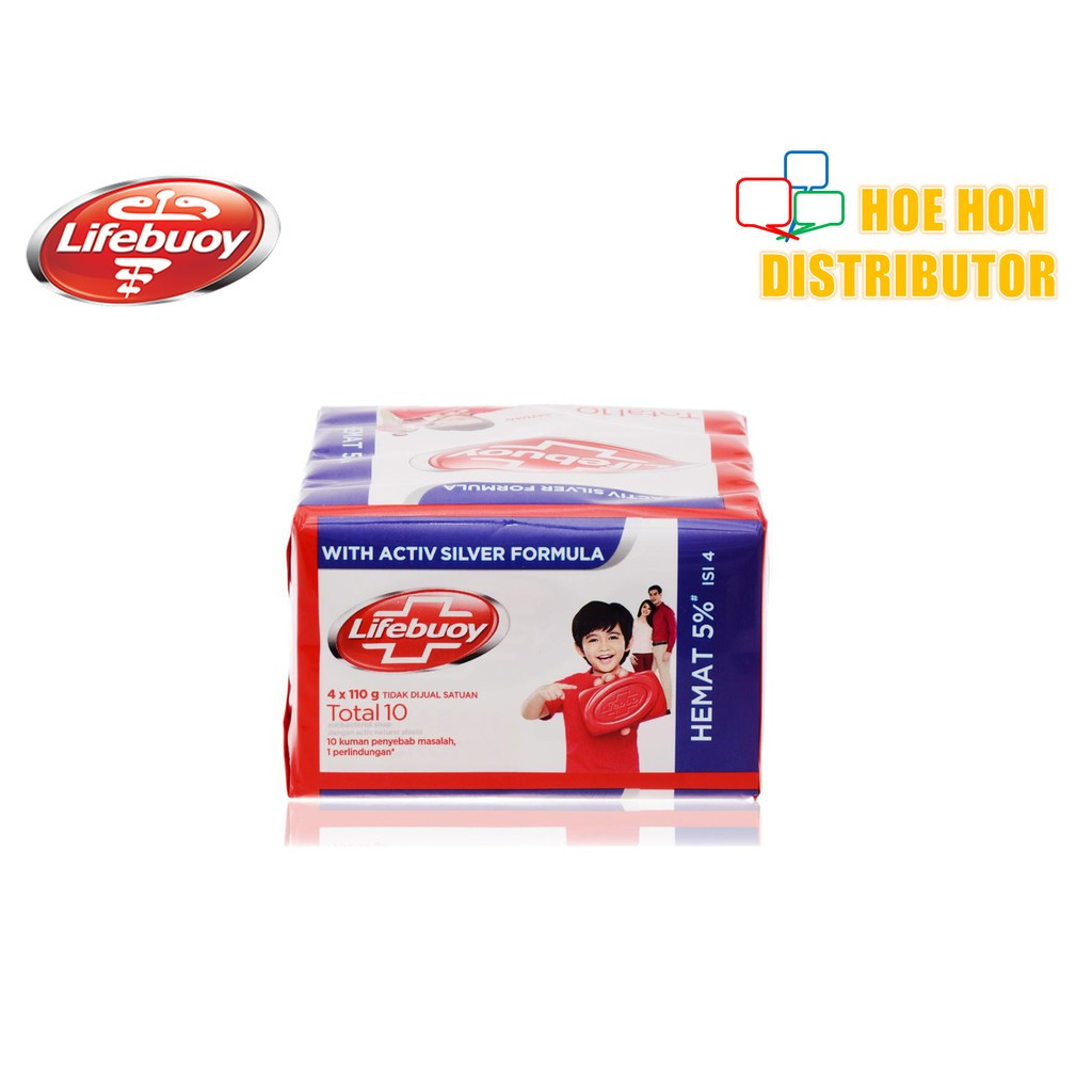 image of Lifebuoy Soap Total 10 110g X 4pcs