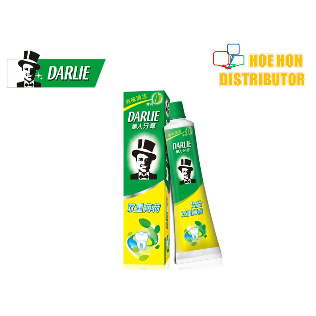 image of Darlie Double Action Original Strong Mint Toothpaste / Ubat Gigi Darlie 225g