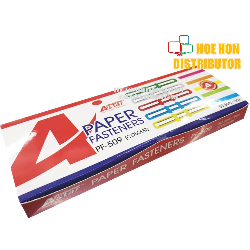 image of Kidario / Astar Paper Fastener 8cm 50pcs (Pengikat Kertas)