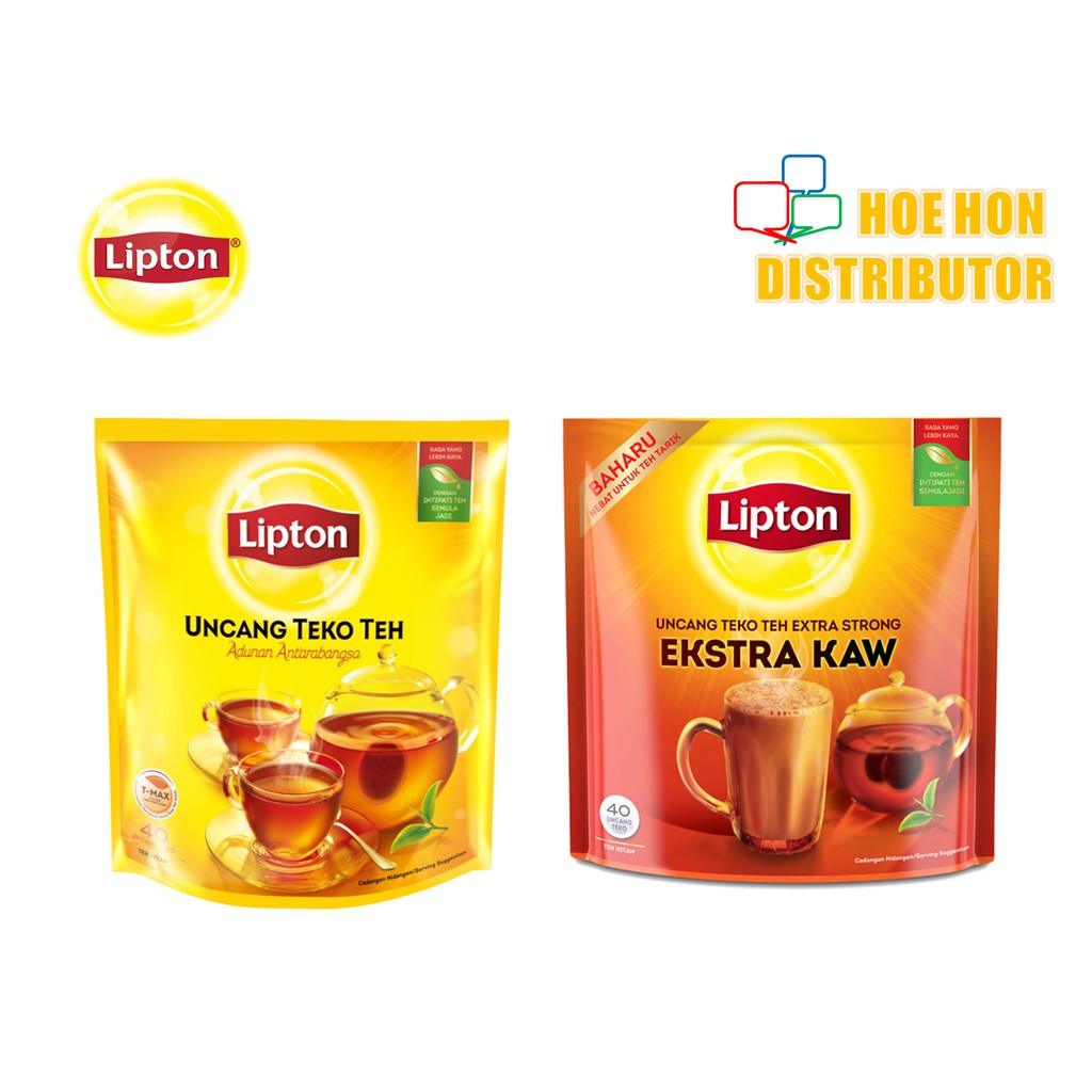 image of Lipton Tea Bag / Yellow Label Tea (Biasa / KAW) Uncang Teko Teh Potbags 40