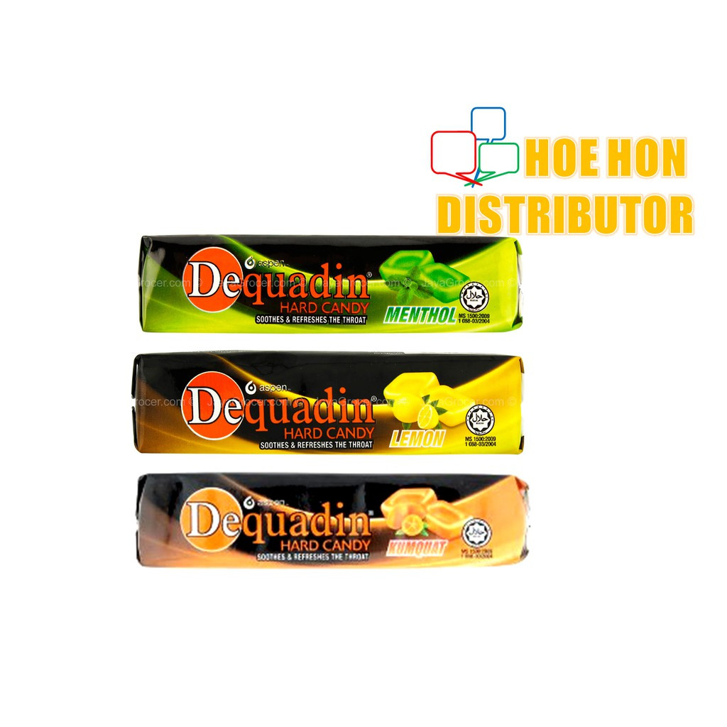 Dequadin Hard Candy 38g Menthol, Lemon, Kumquat / Gula Dequadin HALAL