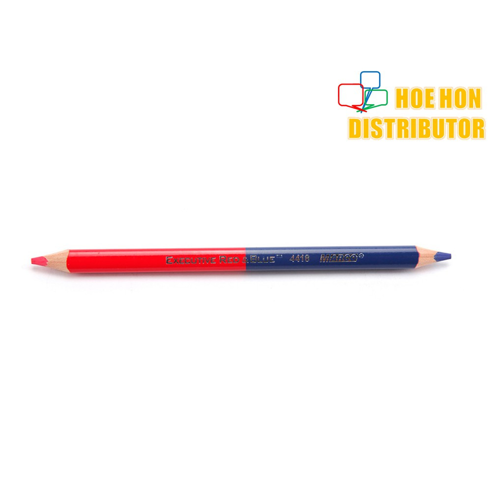 image of Tailor Blue And Red Color Twin / 2 Sided Pencil / Pensil Tukang Jahit