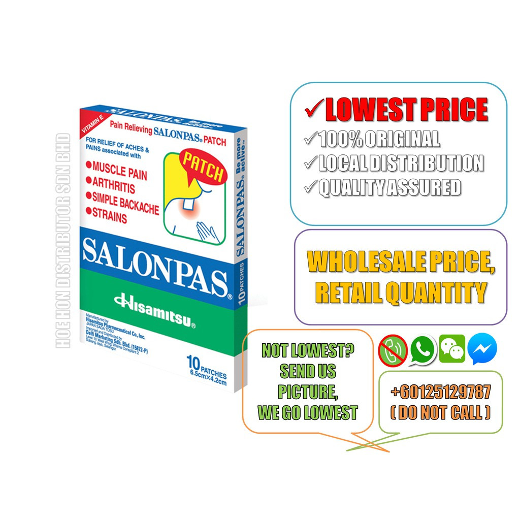 image of Salonpas Pain Relieving Patch 10 Patches (Pain Relief Patch, Neobun Patch)