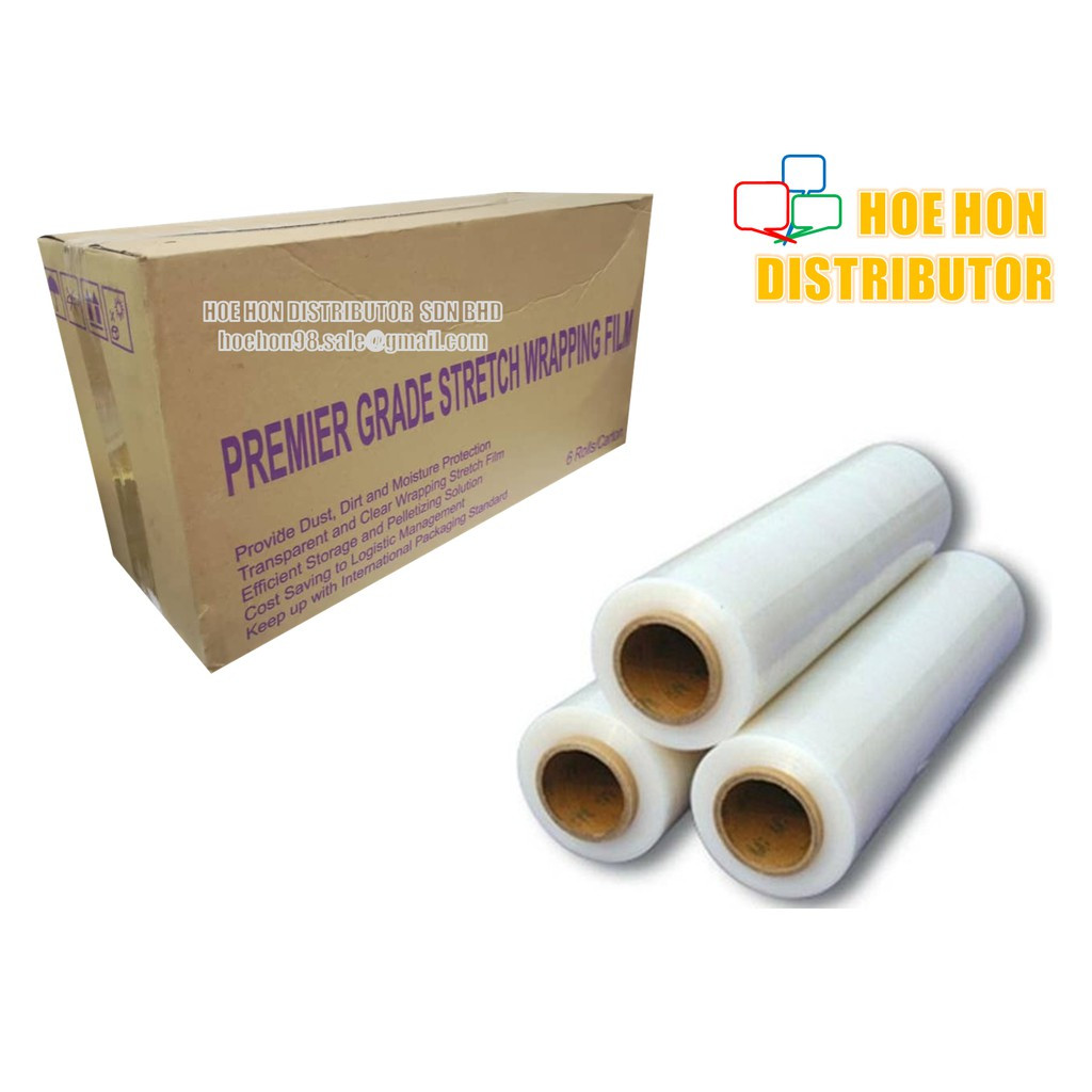 Transparent Stretch Pallet Wrapping Film 500mm 1.8kg
