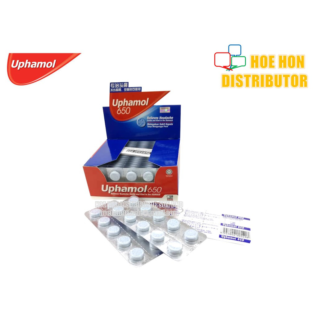 image of Uphamol 650 Relieves Headache 10 Tablet [HALAL]
